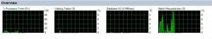 Sección Overview del Monitor de Actividad